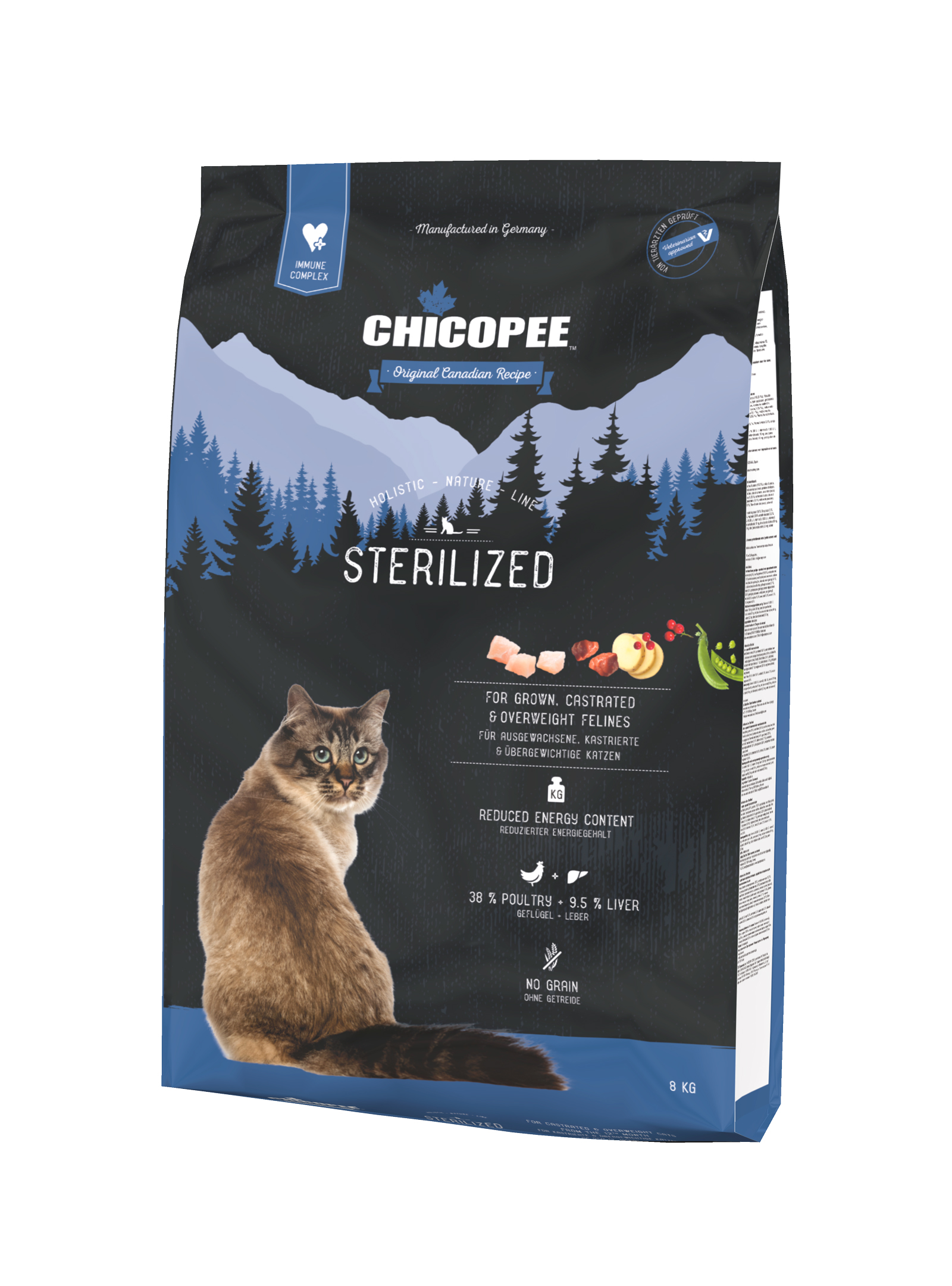 Храна за котка Chicopee Holistic Nature Line Sterilized над 12 месеца
