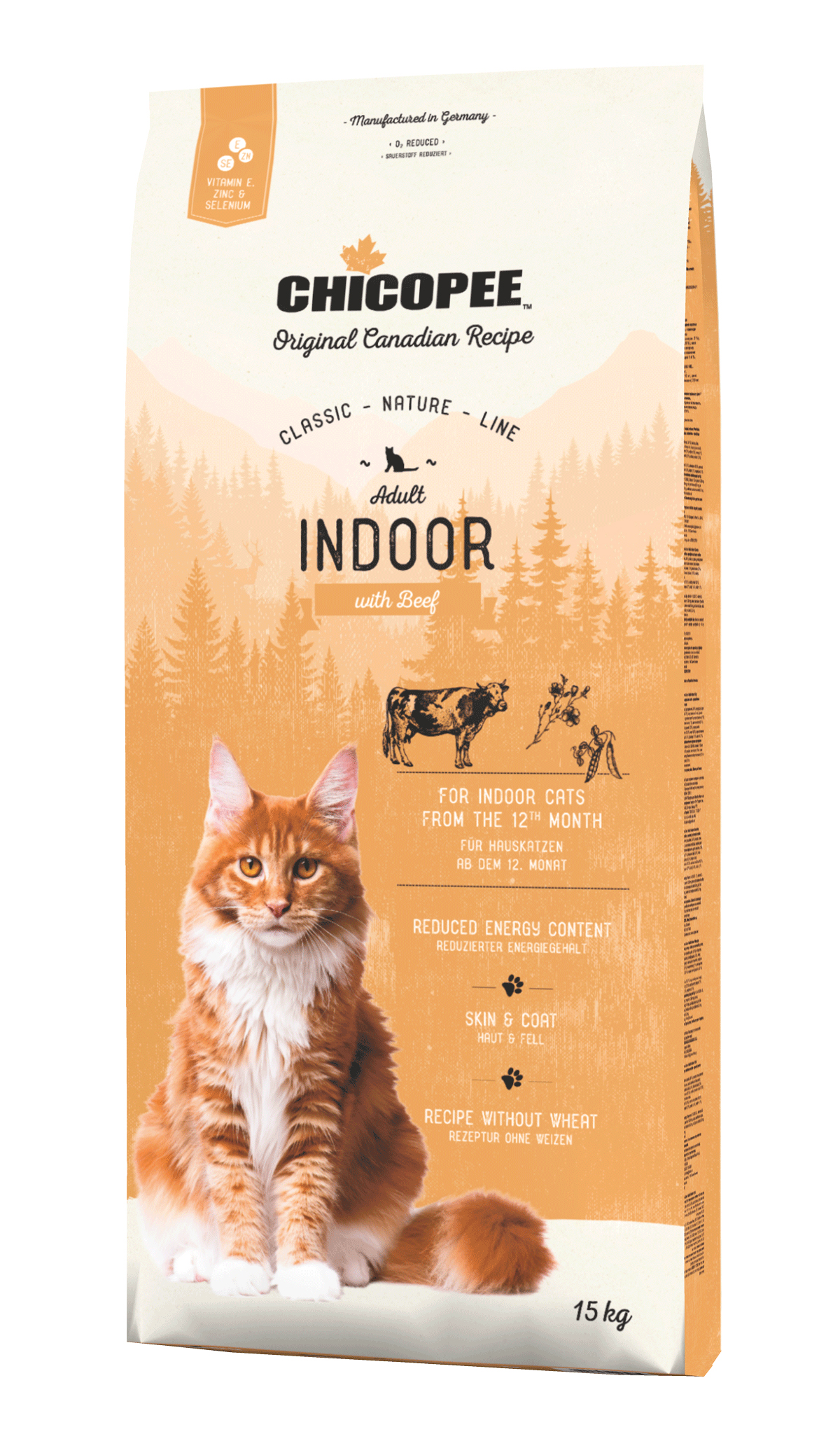 Храна за котка Chicopee Classic Nature Line Adult Indoor с говеждо