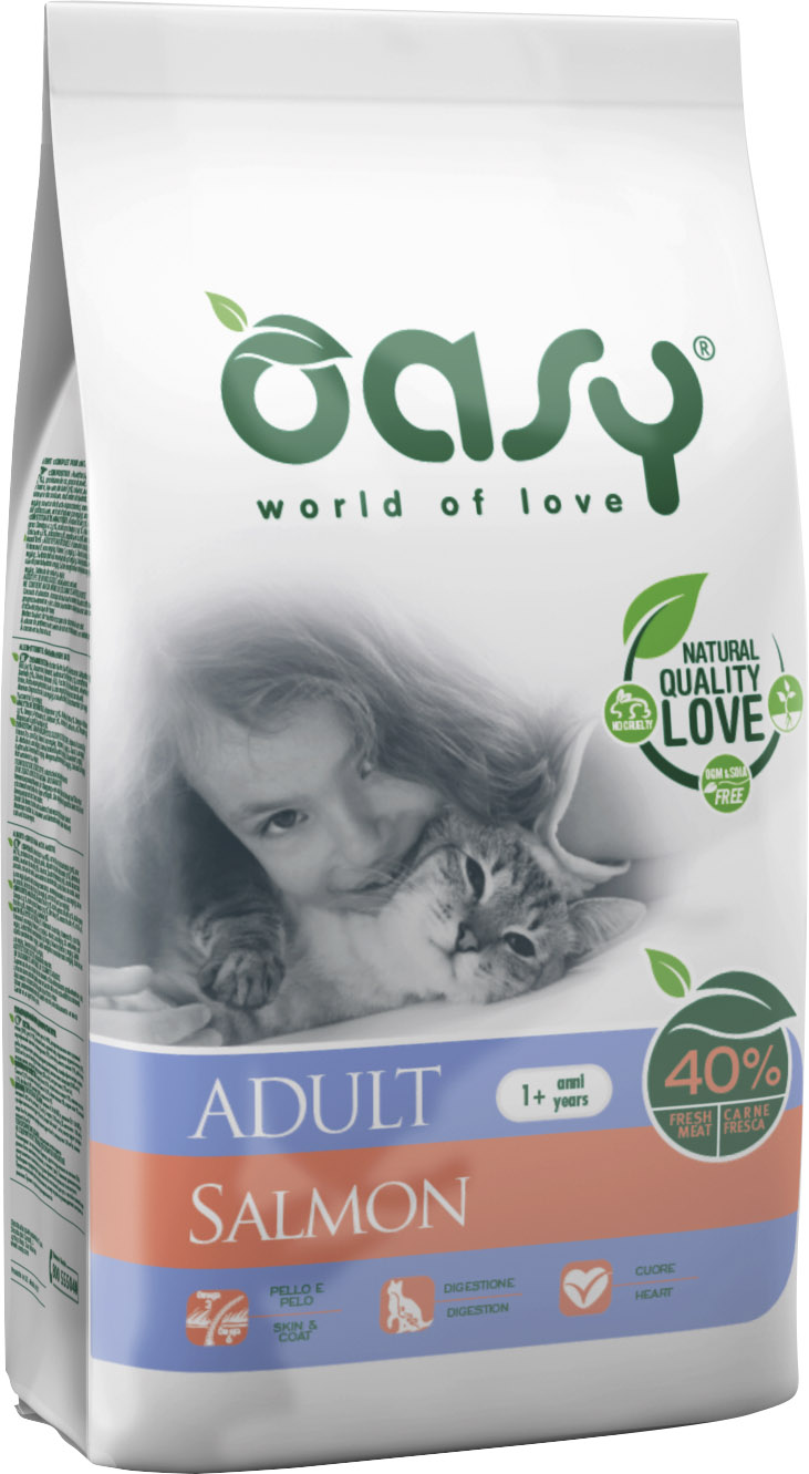 Храна за котка Oasy Cat Adult Salmon сьомга