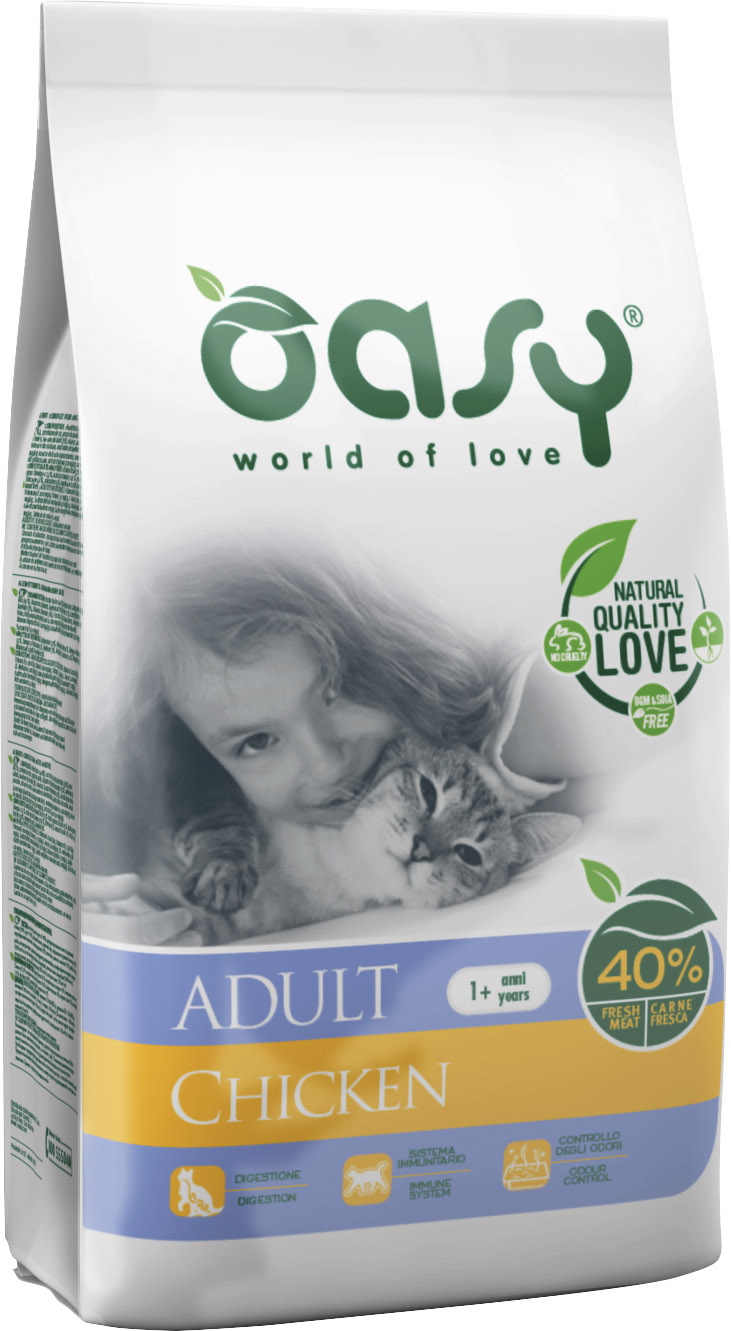 Храна за котка Oasy Cat Adult Chicken пиле, 7.5 кг