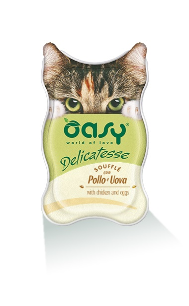 Пастет за котка Oasy Delicatesse Suffle Chicken & Eggs, 85 гр